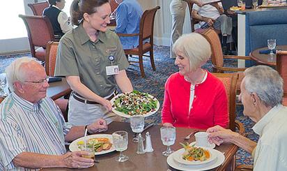 Brethren Village dining rooms and wait staff