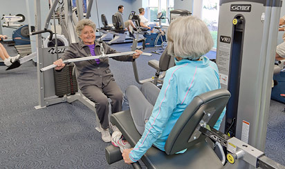Brethren Village fitness and exercise room