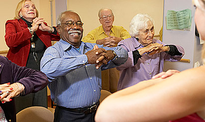 Group fitness classs taught at Brethren Village