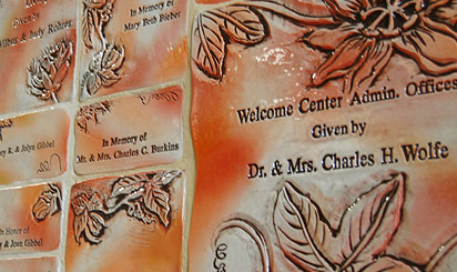 Memorial plaques recognizing donations to Brethren Village