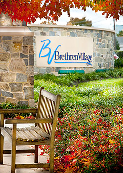 Outdoor Bench at Brethren Village Retirement Community