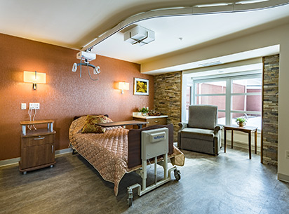 Bariatric Rooms are available at The Rehabilitation Center at Brethren Village.