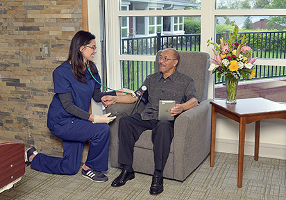 The Rehabilitation Center at Brethren Village focuses on person-centered care, with a focus on wellness in a tranquil setting.