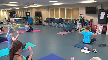 Group fitness class taught at Brethren Village